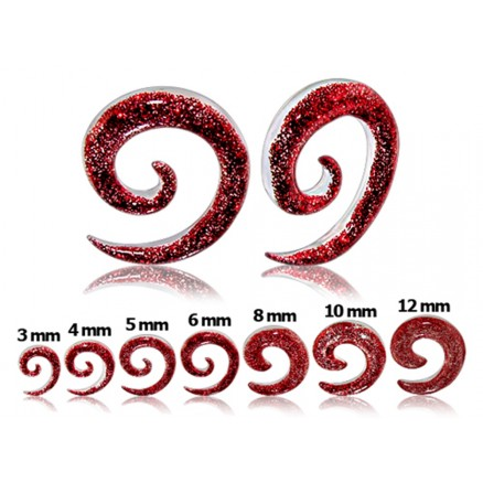 UV Glitter Spiral Ear Expander Body Jewelry